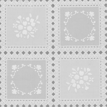 "Tablecloth Vinyl 54""-Squares White"