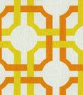 Home Decor 8\u0022x8\u0022 Fabric Swatch-Waverly Groovy Grille Citrus