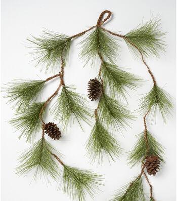 Blooming Holiday Pinecone Garland-Pine