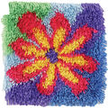 Shaggy Latch Hook Kit 12\u0022X12\u0022-Flower Power