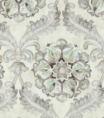 """Waverly Upholstery Fabric 54""""-Over the Moon Icicle"""