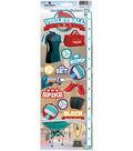 Volleyball Cardstock Sticker