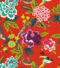 Waverly Upholstery Fabric 54\u0022-Perfect Paring Cinnabar