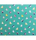 Doodles Juvenile Apparel Fabric-Birds Interlock