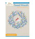 Tweet Wreath Hand Embroidery Pattern
