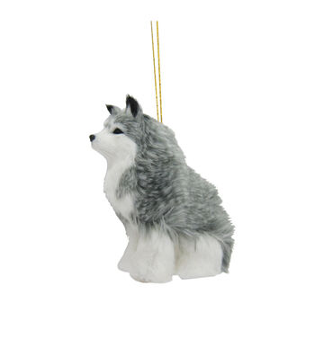 Maker's Holiday Christmas Fur Wolf Ornament