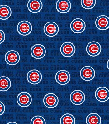 "Chicago Cubs Cotton Fabric 58""-Mini Print"