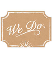 "9.35""x11"" We Do Wedding Sign-Kraft & White, , hi-res"