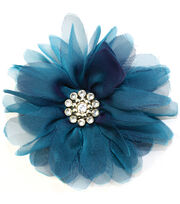 Laliberi Quick Clip Flowers 1/Pkg-Bloom Teal, , hi-res