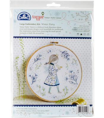 "Tamar Winter Fairy Embroidery Kit-10""X10"""