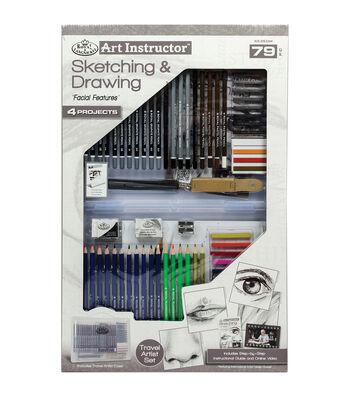 Royal Langnickel Art Instructor 79-Piece Sketching & Drawing Art Set
