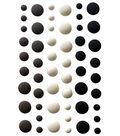 Your Next Stamp 54 pk Self Adhesive Gumdrop Embellishments-Milk & Cookie