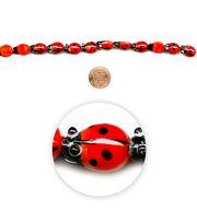 "Blue Moon Beads 7"" Strand, Lampworked Glass Ladybug, , hi-res"