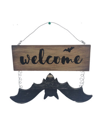 Maker's Halloween Bat Wall Decor-Welcome