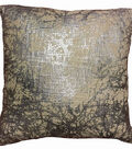 Distressed Foil Printed Pillow-Silver