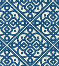 Waverly Print Fabric 54\u0022-Lace It Up/Navy