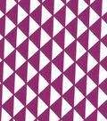 Quilter\u0027s Showcase™ Cotton Fabric 44\u0022-Triangles Purple/White