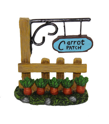 Bloom Room Easter Littles Resin Fence with Carrot Patch Sign