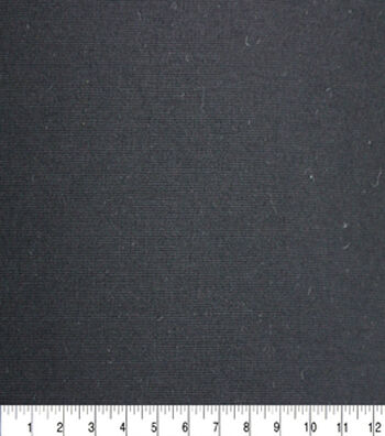 "Solid Refined Ponte Knit Fabric 58""-Black"