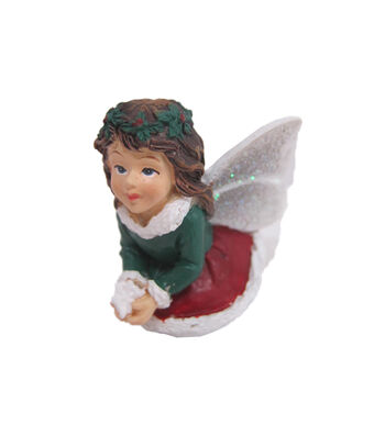 Maker's Holiday Christmas Littles Resin Fairy with Snowflake
