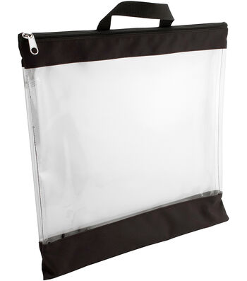 """Everything Mary Large Storage Pouch 16""""X16""""-Clear"""
