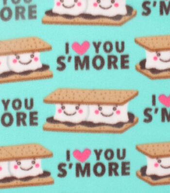 "Blizzard Fleece Fabric 59""-Love You S'more"