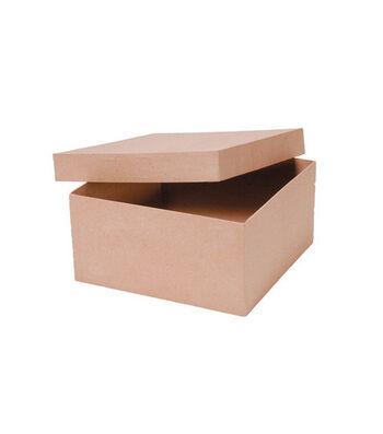 "Darice 10""x10""x5"" Paper Mache Box"