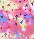Snuggle Flannel Fabric 42\u0022-Tie Dye Arrows & Hearts