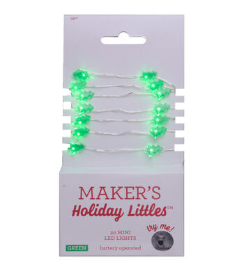 Maker's Holiday Littles 20 ct Christmas Tree LED Lights-Green & Silver