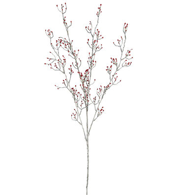 Blooming Holiday Christmas 34'' Glitter Bud Branch Spray-Red