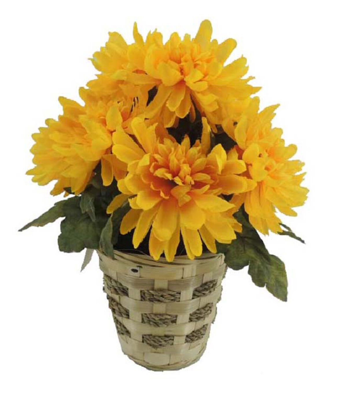 Blooming Autumn 14u0027u0027 Mum Basket Yellow