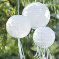 David Tutera™ Swirl Print Paper Lanterns White