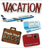 Jolee's Boutique Dimensional Stickers-Vacation, , hi-res