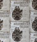 Star Wars™: The Last Jedi Cotton Fabric 44\u0022-Millennium Falcon Blueprint