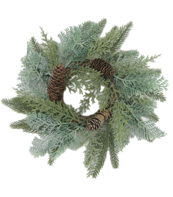 Blooming Holiday Mini Wreath-Cedar Pinecone