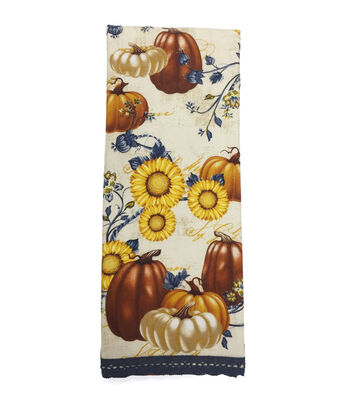 Fall Into Color 16''x28'' French Terry Printed Hand Towel-Pumpkin Patch
