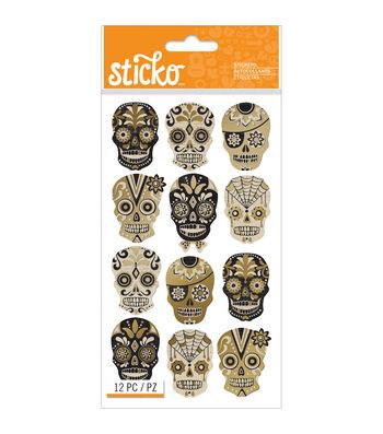 Sticko® Halloween Stickers-Silhouette Sugar Skull
