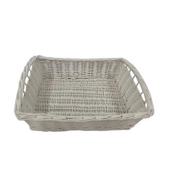 Organizing Essentials™ Willow Tray Basket-White