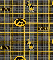 "University of Iowa Hawkeyes Cotton Fabric 44""-Plaid, , hi-res"