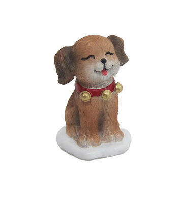 Maker's Holiday Christmas Littles Resin Puppy