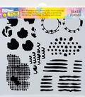 Crafter\u0027s Workshop Marlene Template 12\u0027\u0027x12\u0027\u0027-Distressed Details
