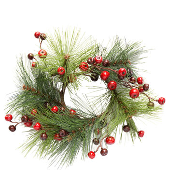 Blooming Holiday Christmas 3.25'' Pine with Berry Mini Wreath
