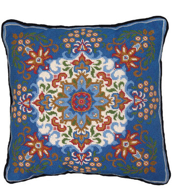 "14""x14"" Needlepoint Kit-Blue Kaleidoscope"