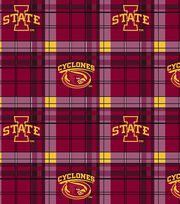 "Iowa State University Cyclones Fleece Fabric 58""-Plaid, , hi-res"