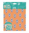 Papermania Owl Folk 12ct 6\u0027\u0027x6\u0027\u0027 Cards With Envelopes