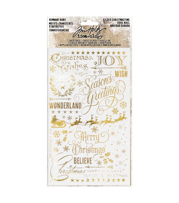 Tim Holtz Idea-ology Paperie Remnant Rubs-Christmas