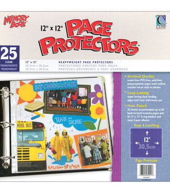 "Memory Book 12""x12"" Top-loading Page Protectors-25PK"