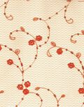 All That Glitters Fabric- Sequin Floral Spray Mesh Orange