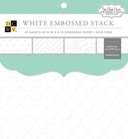 "DCWV 6""x6"" White Embossed Stack, , hi-res"
