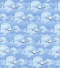 Nursery Cotton Fabric 43\u0022-Whales